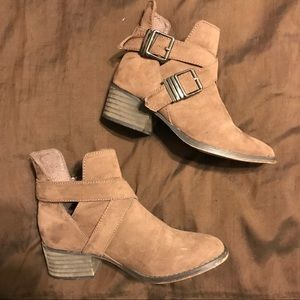 Shoes - Suede brown ankle boots